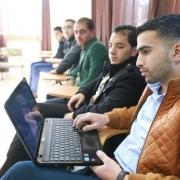 """فوز وتكريم فريق مشروع """"تصميم وتصنيع ماكينة تشكيل (البيتي فور)"""" بالمركز الخامس ضمن فعاليات أسبوع فلسطين الثالث للريادة والتشغيل"""