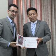 مشاركة المهندس رأفت ناصر الدين في دورة تدريبية في جمهورية الصين الشعبية