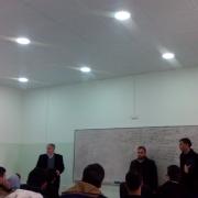 زيارة وفد من دائرة الهندسة الميكانيكية لمدرسة الحسين بن علي