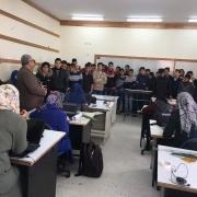 كلية الهندسة تستقبل وفداً من مدرسة صلاح الدين