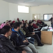 توقيع اتفاق ومحاضرة علمية بين جامعة نابولي  وجامعة بوليتكنك فلسطين