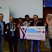 فوز فريق جامعة بوليتكنك فلسطين في مسابقة كأس التخيل 2015
