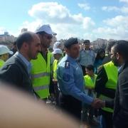 دائرة الهندسة المدنية والمعمارية في كلية الهندسة تشارك في فعالية الفحص الشتوي وبناء قدرات الشرطة الفلسطينية