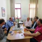 Palestine Polytechnic University (PPU) - دائرة الهندسة المدنية والمعمارية تستقبل رئيس قسم الحوادث في شرطة الخليل ورئيس قسم إدارة السير في بلدية الخليل