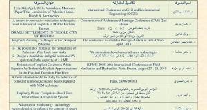 Palestine Polytechnic University (PPU) - كلية الهندسة تحصد أعلى نسبة مشاركات في أبحاث علمية مميزة  عرضت في مؤتمرات عالمية